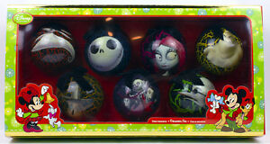 Nightmare Before Christmas NEW Disney 2012 Ornament BOX SET 7 Jack Skellington