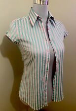 Ladies HERRINGBONE Striped Shirt Top. Size 6. EUC