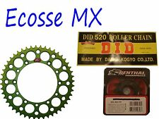 Kawasaki KXF250 DID Gold G/B Chain Green Renthal Sprocket Kit Motocross