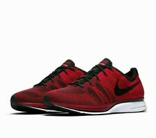 designer fashion 9945e c6ffb New ListingNike Flyknit Trainer Mens Running Shoes 9.5 University Red Black