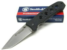 Smith & Wesson S&W Swck13T Black Extreme Ops Straight Tanto Folding Pocket Knife
