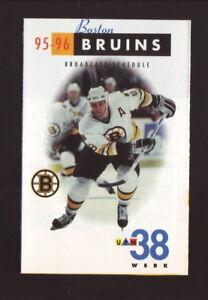 Boston Bruins--Cam Neely--1995-96 Pocket Schedule--WSBK/Bud Ice