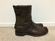 Frye Veronica Brown Short Leather Boot, Back Zip, Size 8
