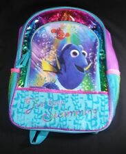 """New"" Disney Finding Dory Large Backpack - Rainbow Colors - Just Keep Swimming!"
