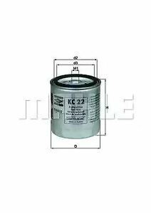 Fuel Filter KC22 77486376 by MAHLE ORIGINAL - Single