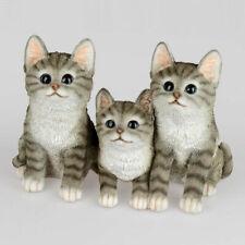 Katzengruppe 25x16 cm Naturfarben Dekofigur handbemalt Haustier 715159 formano