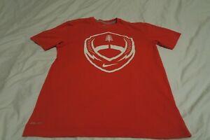 Nike Dri Fit Football Graphic Short Sleeve T-Shirt Orange Mens Medium 534255-846
