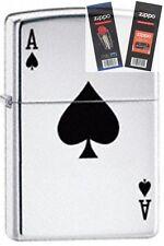 Zippo 24011 lucky ace Lighter with *FLINT & WICK GIFT SET*