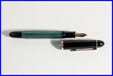 60er Grün gestreifter Kolben Füller 140 PELIKAN / fountain pen / M nib flexible