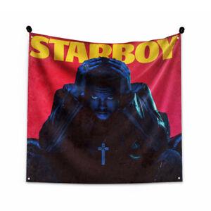 "The Weeknd ""Starboy"" Art Music Album Poster Tapestry Flag 3FT/4FT"