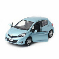 1:36 Toyota Yaris Model Car Metal Diecast Gift Toy Vehicle Pull Back Kids Blue