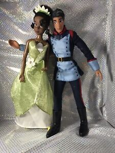 Disney Princess and The Frog Barbie Dolls Tiana And Prince Naveen Lot