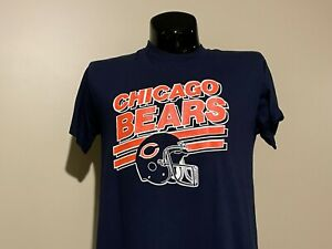CHICAGO BEARS vintage Logo 7  NFL rare 80s single stitch t-shirt Large EUC