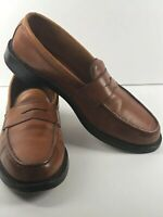 Allen Edmonds Loafers Brown Leather Cole Penny 9.5 B Slip On USA