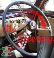 FOR VW BEETLE 1953 1971  ITALIAN LEATHER STEERING WHEEL COVER GREY STITCHING