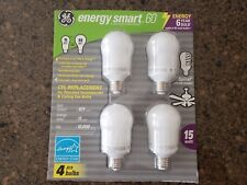 GE Energy Smart 60 CFL 15W Spiral Inside 825 Lumens A19 4 Pack Fluorescant Bulbs