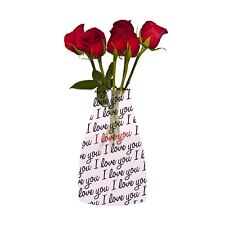 Reva Expanding I Love You Reusable Durable Recyclable Flower Vase Thank You Gift