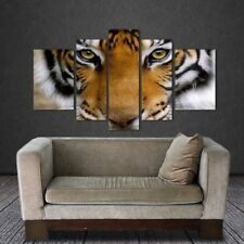 Tiger Canvas Painting Wall Art Pictures For Living Room Home Decoration 5 Panels
