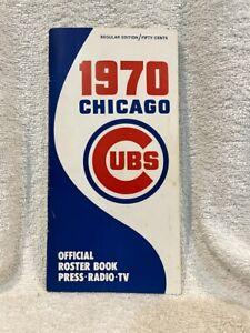 VINTAGE 1970 Chicago Cubs Media Guide, Ernie Banks, Billy Williams, Santo, NICE!