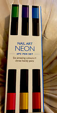 Nails Supreme Nail Art Neon Set Varnish Polish X6 Pens Decorate Design