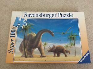 Ravensburger Dinosaurs Super 100 Jigsaw Puzzle 100 Pcs Triceratops #108701