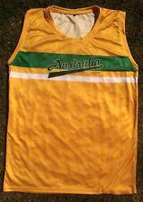 Australia 80s 90s Style One Day Australian Cricket Shirt - SINGLET