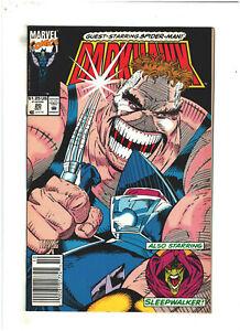 Darkhawk #20 VF 8.0 Newsstand Marvel Comics 1992 Sleepwalker & Spider-man app.