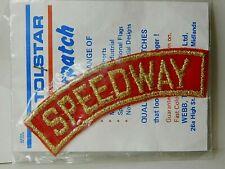 More details for vintage cloth speedway badge patch new old stock tolstar original packaging