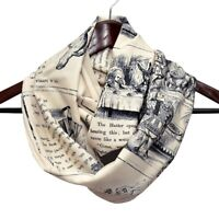 Alice in Wonderland Infinity Scarf, Literary Book Scarf, Lewis Carroll