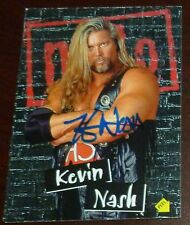 Kevin Nash Signed 1998 Topps WCW NWO Stickers Card #S6 Autograph WWE Auto'd WWF