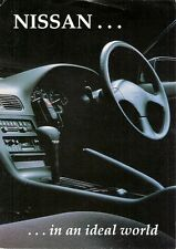 Nissan 200SX & Maxima 1989-90 UK Market Foldout Sales Brochure