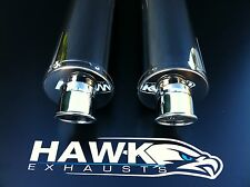Aprilia Falco SL 1000 Pair Stainless Round Exhaust Cans Silencers Road Legal