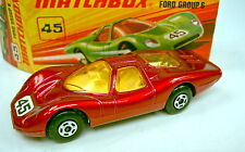 Matchbox SF Nr. 45A Ford Group 6 purpurmetallic top in Box