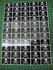 Hoja De 55 Skull & Crossbone Pirata pegatinas