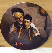 The Music Maker Knowles Norman Rockwell Collector Plate