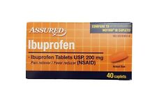 Ibuprofen 200mg Pain reliever/ fever reducer Compare to motrin 40 caplets