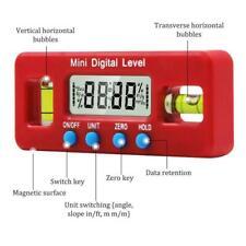 100mm 360° Mini Calibrador de Inclinómetro Nivel Magnético Digital Angle Level