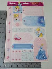 SANDYLION DISNEY CINDERELLA PRINCESS CARDSTOCK STICKERS NEW A2120