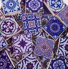 Ceramic Mosaic Tiles - Purple Medallions Moroccan Tile Mosaic Purple Tile Pieces