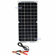 Flessibile Pannello Solare 10W 12V Camion Yacht RV Barca Caricabatterie