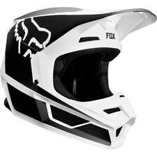 Juventud Fox V1 Motocross Mx Casco-Przm Negro/Blanco Niños Bicicleta Bmx Quad