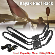 ×2Multi-purpose Universal Roof J-Bar Rack Kayak Canoe Carrier Car SUV Top Mount