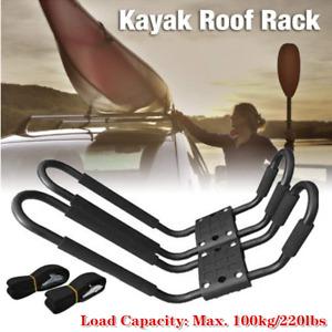 2×Multi-purpose Universal Roof J-Bar Rack Kayak Canoe Carrier Car SUV Top Mount