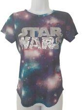 Girls Star Wars Sequin Logo Galaxy T-Shirt Age 12-13 13-14 Yrs H&M Petite Ladies