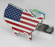 3D Metal Car Front Grille Badge Emblem American United States USA Flag Gift Box