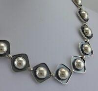 Vintage Designer-Collier / 835er Silber / ca. 40 cm