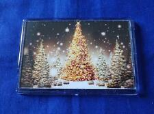 GOLDEN CHRISTMAS TREE FRIDGE MAGNET