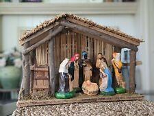 Vintage Nativity Manger Scene 7 Figures Made In Italy?