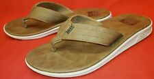 Reef Men's Thong Toe Post Sandals Men's 8M 40EU Brown Leather Flip Flop
