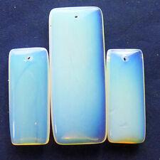 3pcs Beautiful Opal Opalite Oblong Pendant Bead set Q0102979